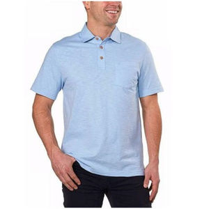 IZOD Mens Slub Short Sleeve Polo Shirt Clear Air